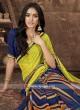 Blue And Yellow Saree