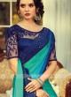 Chiffon Silk Rama Green Shaded Saree