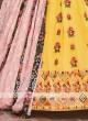 Chiffon Lehenga Choli In Yellow And Black