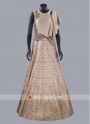 A Line Raw Silk Gown