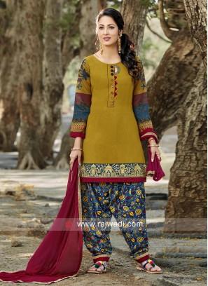 Adorable  Art Silk Patiala Suit