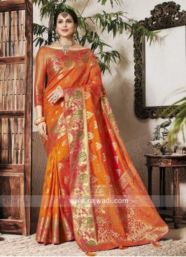 Adorable Banarasi Silk Zari Woven Saree