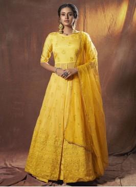 Adorning Fancy Yellow Lehenga Choli