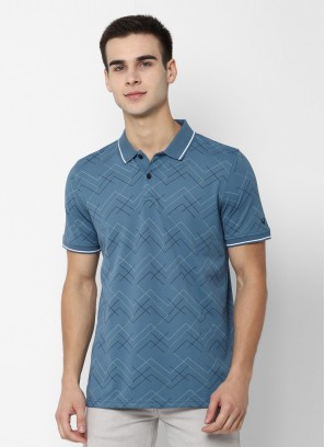 Allen Solly Blue Wimbledon T Shirt