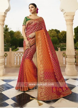 Shaded Banarasi Silk Wedding Saree