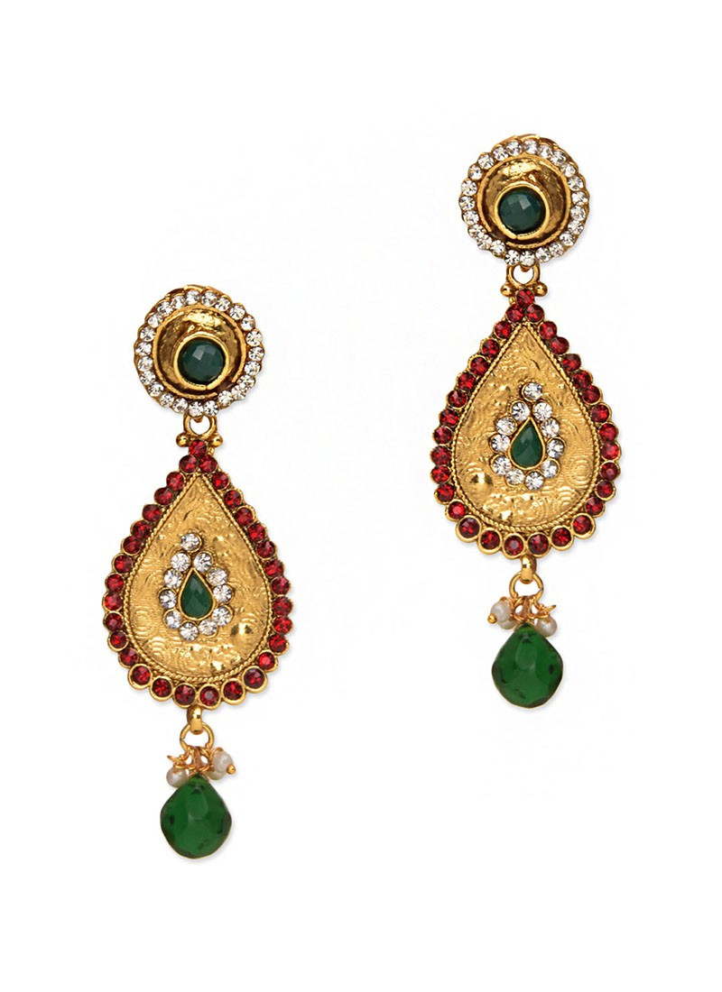 Alluring Multicolored Emboss Earrings