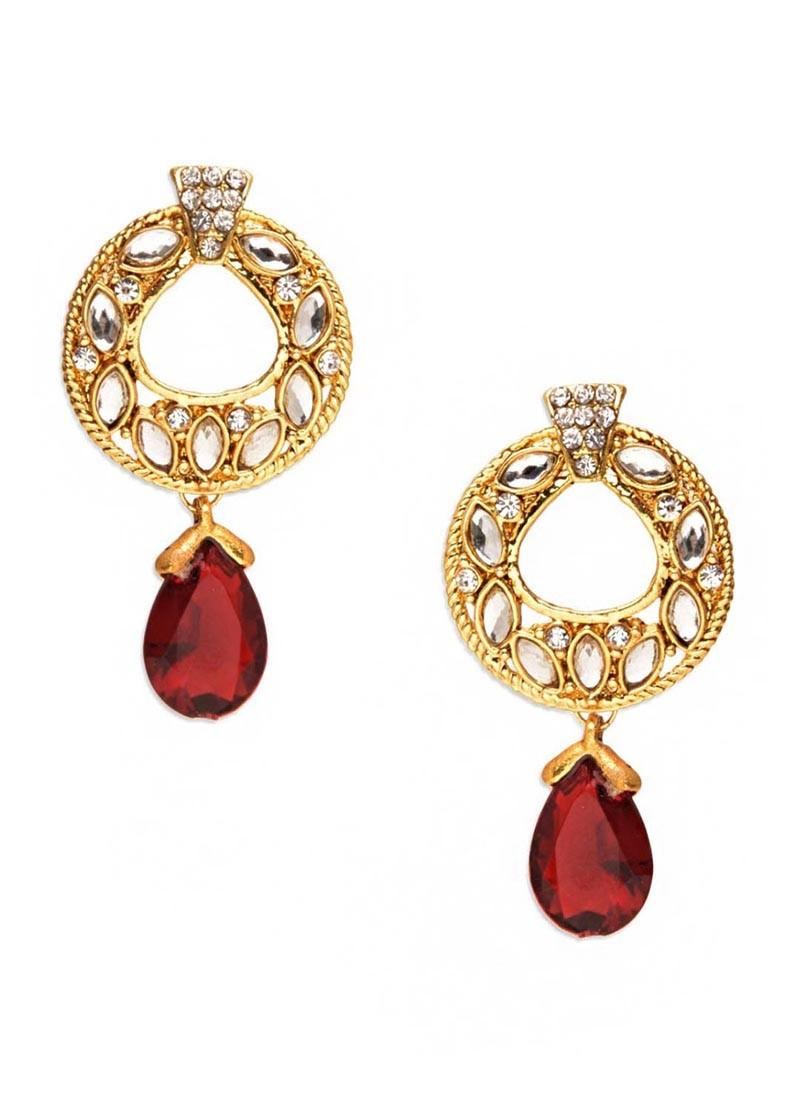 Alluring Red Drop Earrings