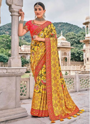 Alluring Silk Reception Traditional Saree