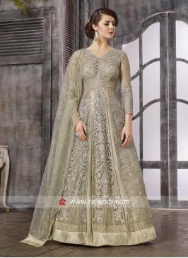 Semi Stitched Net Salwar Kameez