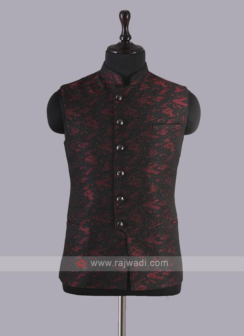 Amazing Art Silk Nehru Jacket