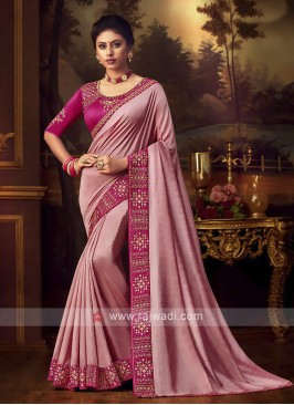 Amazing Art Silk Pink Saree