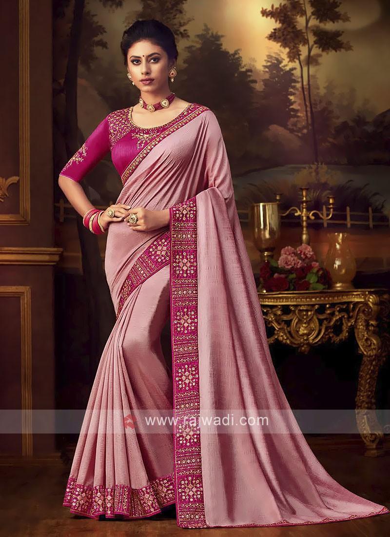 Amazing Art Silk Pink Saree