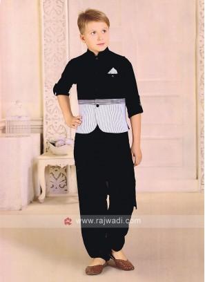 Amazing Black And White Nehru Jacket