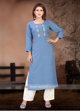 Amazing Blue & White Kurta Set