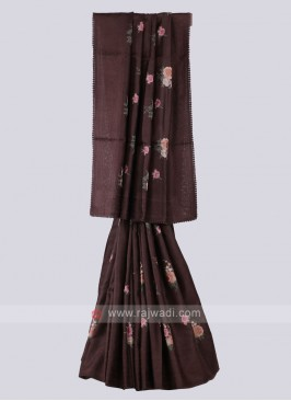 Amazing Brown Color Saree