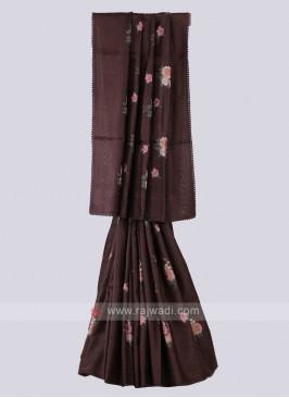 Amazing Brown Color Saree