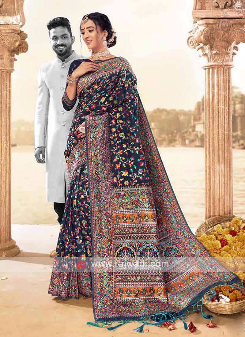Amazing Classic Saree In Navy Color