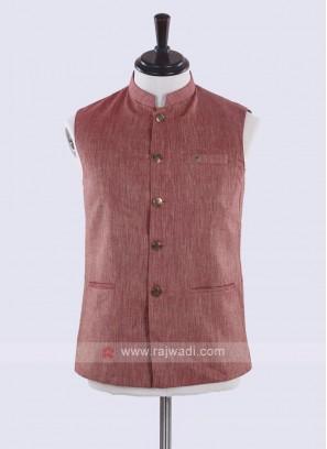 amazing gajari pink cotton silk koti