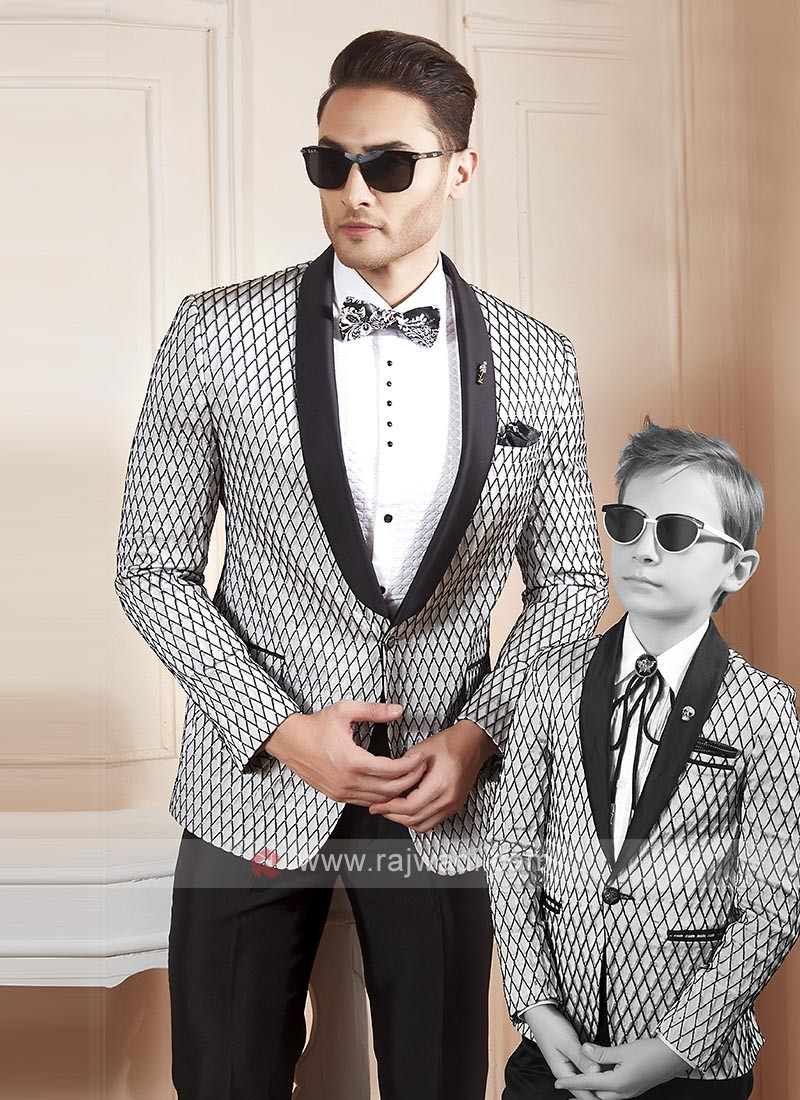 Amazing grey and black color suit