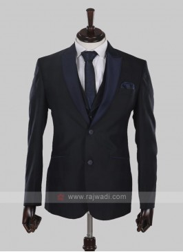 amazing imported fabric navy blue suit