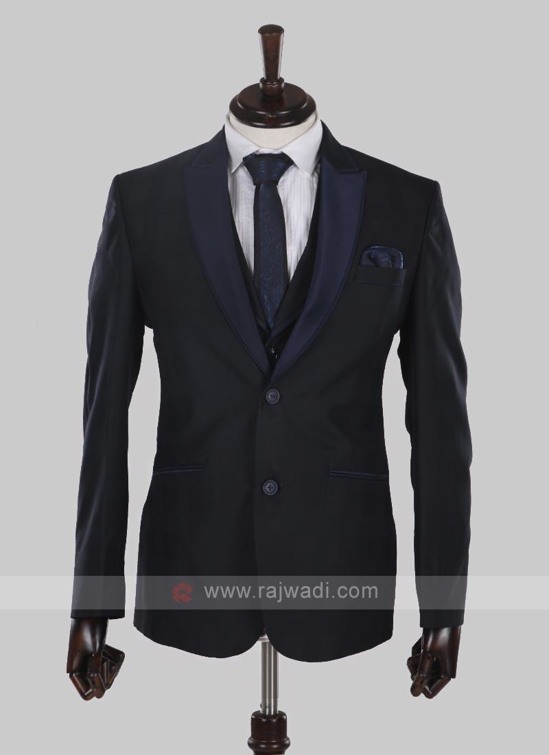 amazing imported fabric navy blue suit