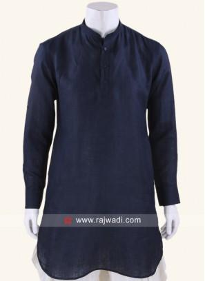 Amazing Linen fabric Navy Kurta