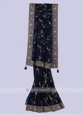 Amazing Navy Color Saree