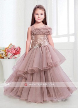 Amazing net gown in light pink color