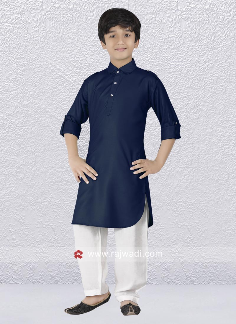 Amazing Party wear Art Silk Pathani Suit