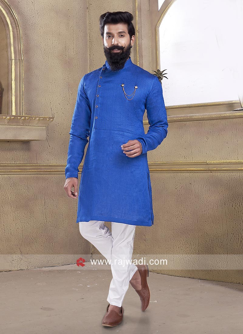 Amazing Party wear Linen Pathani Suit