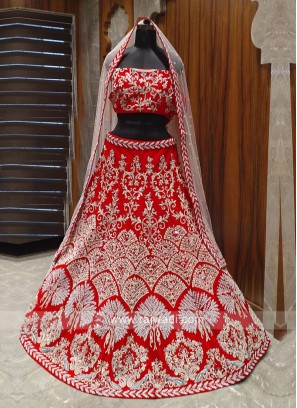 amazing red bridal lehenga choli