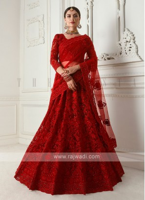 amazing red color lehenga choli