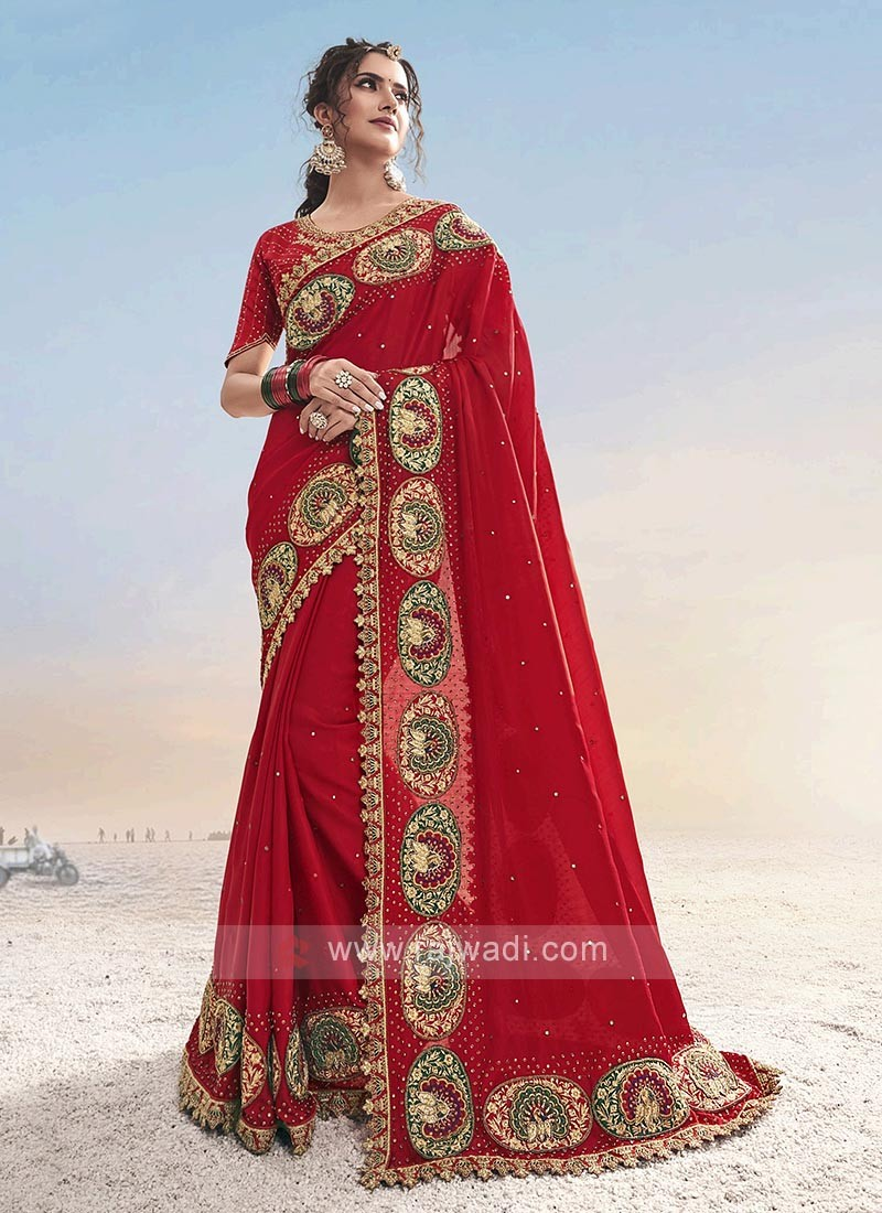 Amazing Red Color Saree