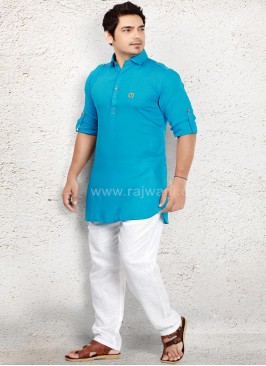 Amazing Sky Blue Pathani Suit