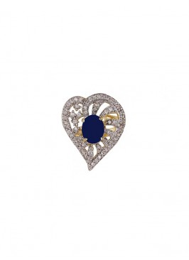 American Diamond Heart Ring