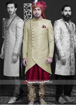 Anarkali Style Brocade Silk Indo Western