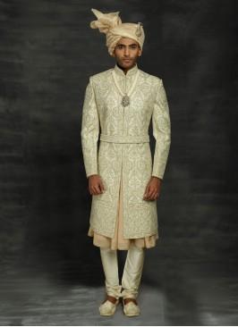 Anarkali Style Wedding Sherwani For Dulha