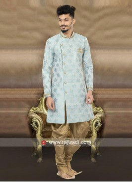 Stylish Sky Blue Color Indo Western