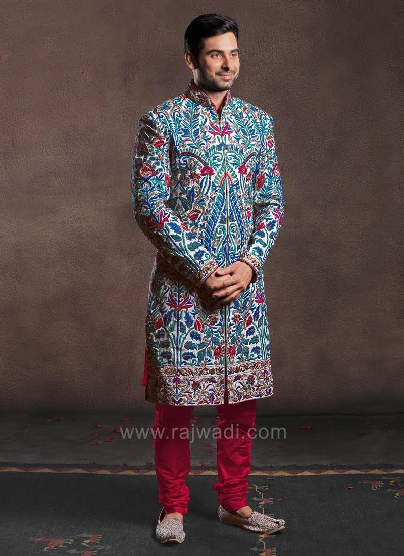 Angrakha Style Sherwani