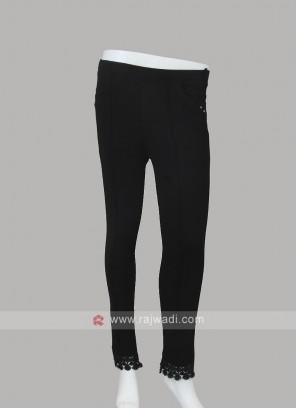 Ankle Length Slim Fit Black Jeggings