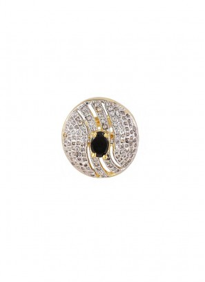 Antique Cushion Gold Plated Ring