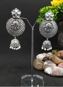 Antique Oxidized Jhumki Earrings