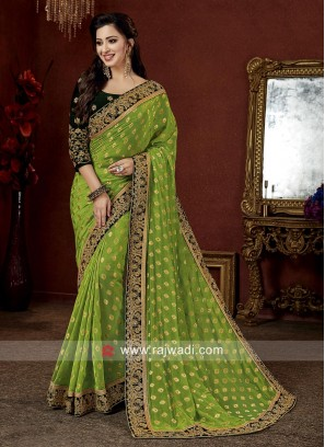 Art Banarasi Silk Embroidered Saree