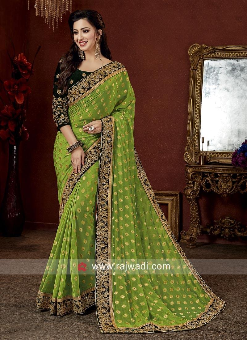Art Banarasi Silk Embroidered Saree
