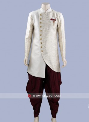 Art Jute Fabric Patiala Suit