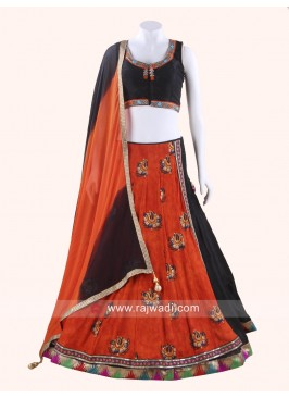 Art Raw Silk Chaniya Choli with Chiffon Dupatta
