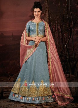 Art Raw Silk Designer Lehenga