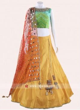 Art Raw Silk Lehenga Choli with Dupatta