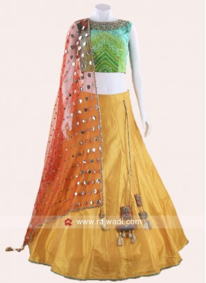 Art Raw Silk Lehenga Choli with Dupatta