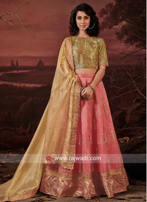Art Raw Silk Wedding Lehenga